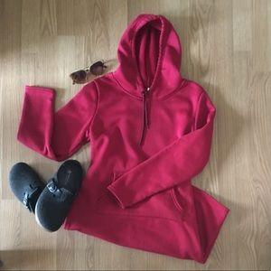 Dress Cranberry Dark Red Hoodie Sweatshirt
